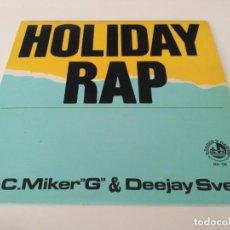 Discos de vinilo: M.C. MIKER G & DEEJAY SVEN - HOLIDAY. Lote 213456857