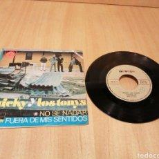 Disques de vinyle: MICKY Y LOS TONYS. NO SE NADAR. FUERA DE MIS SENTIDOS.. Lote 213473937