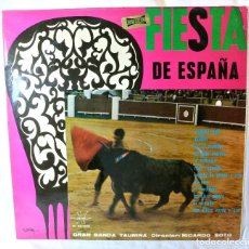 Discos de vinilo: GRAN BANDA TAURINA , FIESTA DE ESPAÑA ,DISCO VINILO LP, MARFER, 1974. Lote 213478940