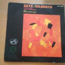 Discos de vinilo: GETZ GILBERTO SINGLE SPAIN CON JOBIM. Lote 213482762