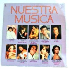 Discos de vinilo: NUESTRA MUSICA , RECOPILATORIO 1, DISCO VINILO LP, CBS , 1979. Lote 213483176