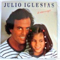 Discos de vinilo: JULIO IGLESIAS , DE NIÑA A MUJER , DISCO VINILO LP, CBS, 1981. Lote 213485083