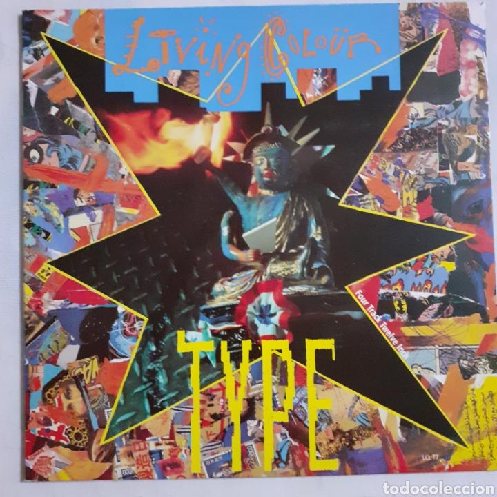 LIVING COLOUR. TYPE. GATEFOLD. LCL GT7. EP 1990 UK. DISCO EX. CARÁTULA EX. (Música - Discos de Vinilo - EPs - Pop - Rock Internacional de los 90 a la actualidad)