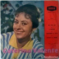Discos de vinilo: CATERINA VALENTE. MAI DIRE MAI/ O PENSIERO/ GUARDANDO IL CIELO/ NESSUNO AL MONDO. DECCA, SPAIN 1960. Lote 213512888