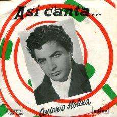 Discos de vinilo: ANTONIO MOLINA / SOY MINERO / COCINERO, COCINERO + 2 (EP 1958). Lote 296582418