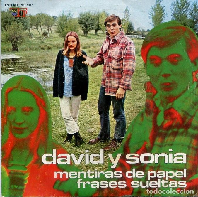 DAVID Y SONIA / MENTIRAS DE PAPEL / FRASES SUELTAS (SINGLE TOP RECORDS 1973) (Música - Discos - Singles Vinilo - Grupos Españoles de los 70 y 80)