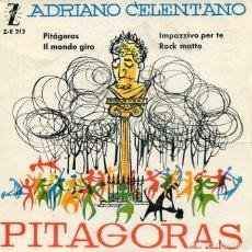 Discos de vinilo: ADRIANO CELENTANO / PITAGORAS / ROCK MATTO + 2 (EP ZAFIRO 1960). Lote 213523051