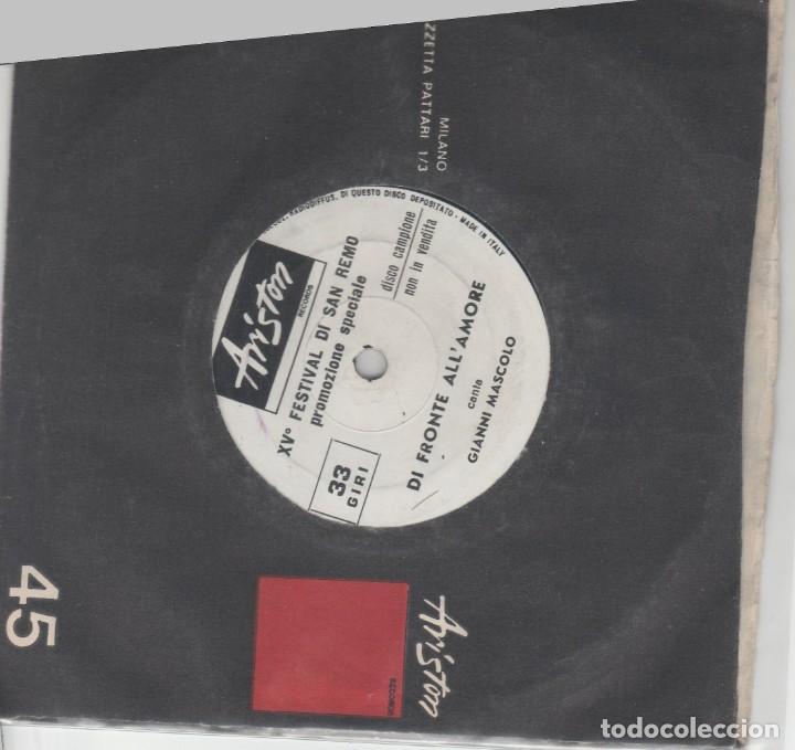 SANREMO 65 PROPO LABEL ARISTON STANDARD AUDREY PRIMA O POI DON MIKO GIANNI MASCOLO ITALY (Música - Discos de Vinilo - Maxi Singles - Otros Festivales de la Canción)