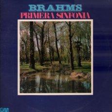 Discos de vinilo: BRAHMS - PRIMERA SINFONIA LP GRAMUSIC DE 1973 RF-8272 , BUEN ESTADO. Lote 213528620