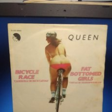 Discos de vinilo: SG QUEEN : BICYCLE RACE + FAT BOTTOMED GIRLS ( SPAIN PRESSING ). Lote 213537011