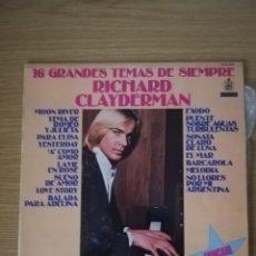 Discos de vinilo: RICHARD CLAYDERMAN. 16 GRANDES TEMAS DE SIEMPRE. Lote 213540121