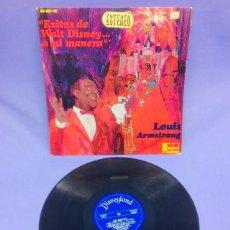 Discos de vinilo: LP -- LOUIS AMSTRONG --ÉXITOS DE WALT DISNEY A MI MANERA --MADRID --VG++. Lote 213540717