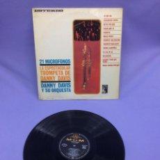 Discos de vinilo: LP -- DANY DAVIS Y SU ORQUESTA -- LA ESPECTACULAR TROMPETA DE DANNY DAVIS --MADRID--VG++. Lote 213541121
