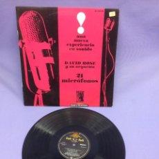 Discos de vinilo: LP -- DAVID ROSE Y SU ORQUESTA --UNA NUEVA EXPERIENCIA EN SONIDO --MADRID--VG++. Lote 213541345