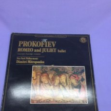 Discos de vinilo: LP -- PROKOFIEV -- ROMEO AND JULIET - BALLET -- CBS FRANCE --VG+. Lote 213541903