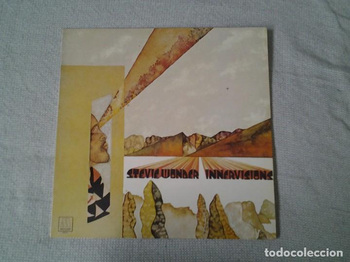 STEVEI WONDER -INNER VISIONS- LP MOTOWN 2-47.086 ED. ESPAÑOLA GATEFOLD SLEEVE MUY BUENAS CONDICIONES (Música - Discos - LP Vinilo - Jazz, Jazz-Rock, Blues y R&B)