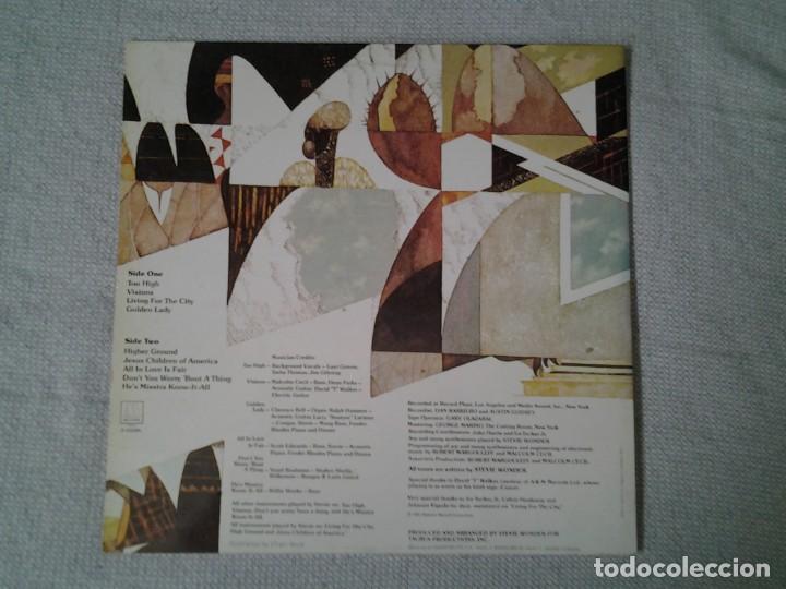 Discos de vinilo: STEVEI WONDER -INNER VISIONS- LP MOTOWN 2-47.086 ED. ESPAÑOLA GATEFOLD SLEEVE MUY BUENAS CONDICIONES - Foto 5 - 213555577