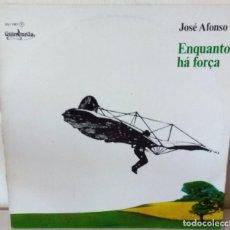 Discos de vinilo: JOSE AFONSO - ENQUANTO HA FORÇA GUIMBARDA PROMOCIONAL - 1978. Lote 213556380