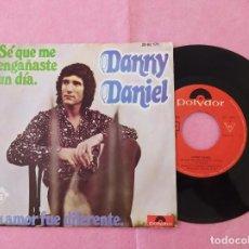 """Discos de vinilo: 7"""" SINGLE - DANNY DANIEL – SÉ QUE ME ENGAÑASTE UN DÍA PORTUGAL PRESS 2062.171 (VG++/VG+). Lote 213562538"""