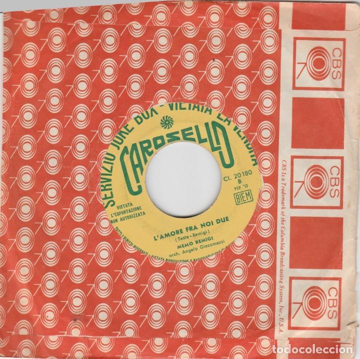 45 GIRI MEMO REMIGI DOVE CRED I ANDARE DI SERGIO ENDRIGO FESTIVAL DI SANREMO 1967 CAROSELLO ED JK (Música - Discos de Vinilo - Maxi Singles - Otros Festivales de la Canción)
