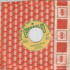 Discos de vinilo: 45 GIRI MEMO REMIGI DOVE CRED I ANDARE DI SERGIO ENDRIGO FESTIVAL DI SANREMO 1967 CAROSELLO ED JK. Lote 213564288