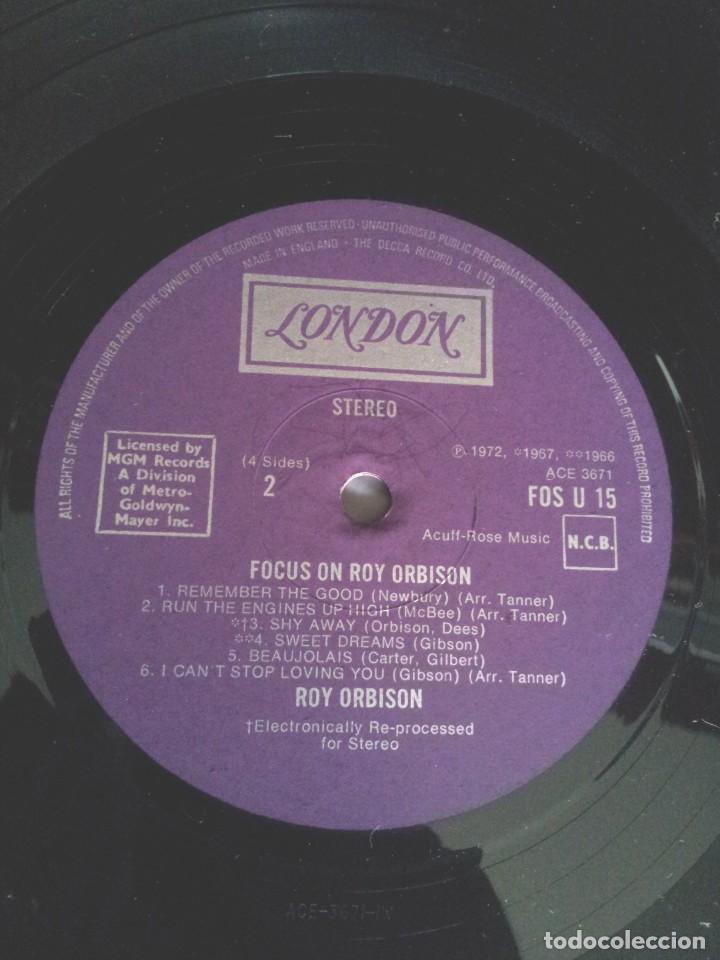 Discos de vinilo: ROY ORBISON - 2 LPS, FOCUS ON - LONDON DECCA 1976 - UK - Foto 8 - 213566735