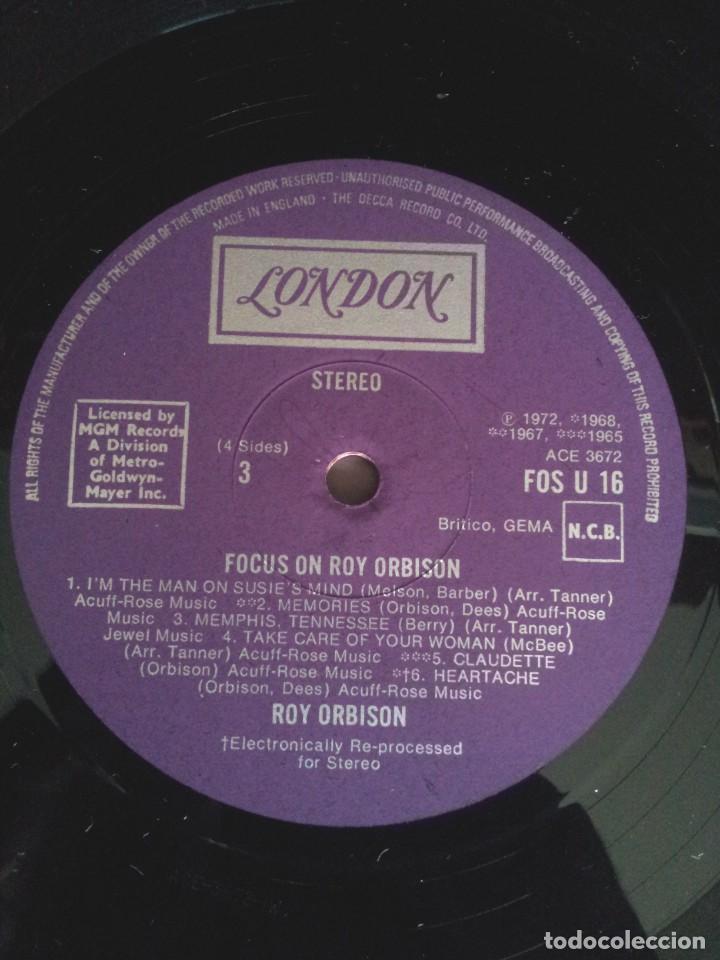 Discos de vinilo: ROY ORBISON - 2 LPS, FOCUS ON - LONDON DECCA 1976 - UK - Foto 10 - 213566735