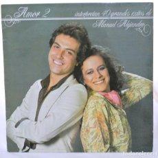Discos de vinilo: AMOR 2, 40 EXITOS DE MANUEL ALEJANDRO ,DISCO VINILO LP, RCA 1981. Lote 213571455