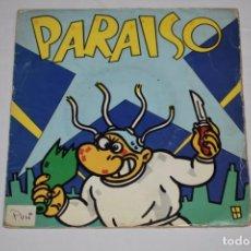 Discos de vinilo: DISCO VINILO SINGLE PARAISO MAKOKI EN LA MORGUE Y AL FINAL ( CAROLINA) LIPSTICK 1983. Lote 213575275