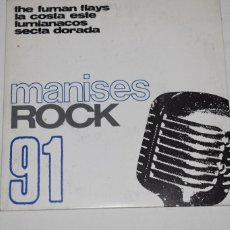 Disques de vinyle: DISCO VINILO SINGLE MANISES ROCK 91 DISCOTECA THE CENTRAL MANISES VALENCIA 1991. Lote 213575562