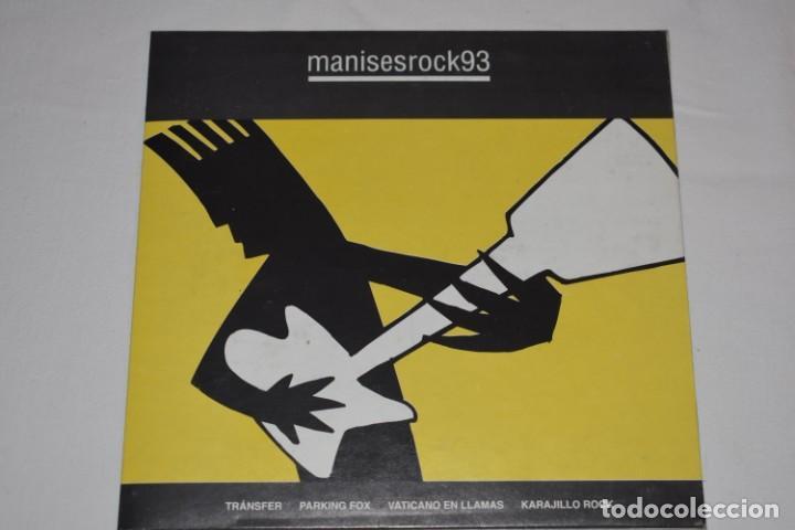 DISCO VINILO SINGLE MANISES ROCK 93 DISCOTECA THE CENTRAL MANISES VALENCIA 1993 (Música - Discos - Singles Vinilo - Grupos Españoles de los 90 a la actualidad)