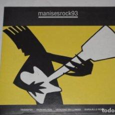 Disques de vinyle: DISCO VINILO SINGLE MANISES ROCK 93 DISCOTECA THE CENTRAL MANISES VALENCIA 1993. Lote 213575681