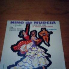 Discos de vinilo: NINO DE MURCIA LUNA DE MIEL. VALENCIA. ANGELITOS NEGRO. SI VAS A CALATAYUD. CRV. Lote 213575752