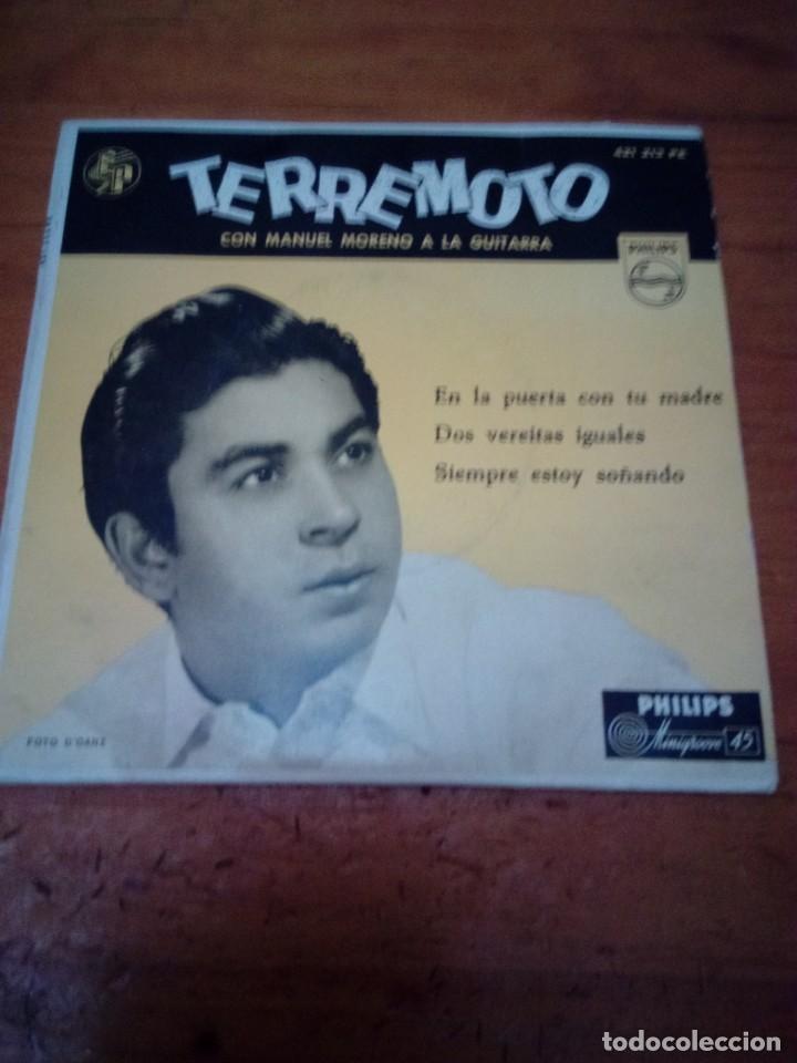 TERREMOTO CON MANUEL MORENO A LA GUITARRA. CRV (Música - Discos de Vinilo - EPs - Flamenco, Canción española y Cuplé)