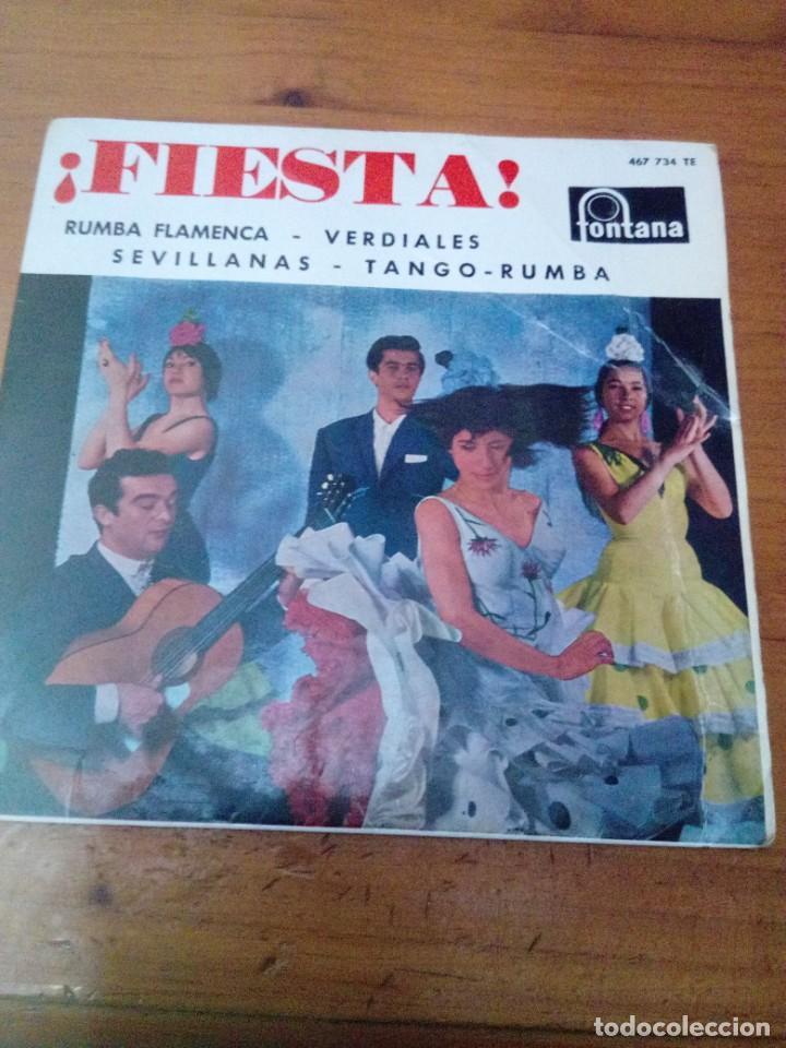 FIESTA. RUMBA FLAMENCA. VERDIALES SEVILLANAS. TANGO. RUMBA. EL PUEBLO QUIERE ENTERARSE.. C3V (Música - Discos de Vinilo - EPs - Flamenco, Canción española y Cuplé)