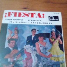 Discos de vinilo: FIESTA. RUMBA FLAMENCA. VERDIALES SEVILLANAS. TANGO. RUMBA. EL PUEBLO QUIERE ENTERARSE.. C3V. Lote 213576166