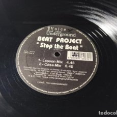 Discos de vinilo: MAXI - BEAT PROJECT ‎– STOP THE BEAT - VU 016 ( VG+ / VG) ITALY 1997. Lote 213576562