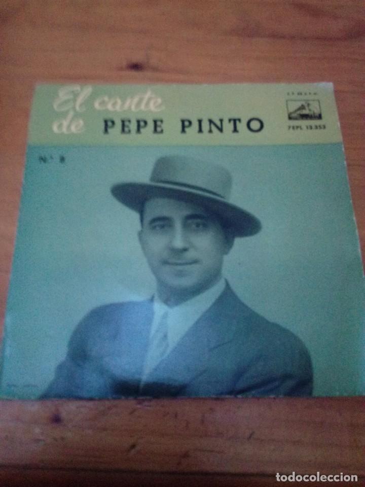 EL CANTE DE PEP PINTO Nº 8. EL CORAZÓN DE PENA TENGO TRASPASAO. SIENTE TU MIS PENAS... CRV (Música - Discos de Vinilo - EPs - Flamenco, Canción española y Cuplé)