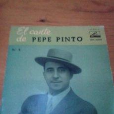 Discos de vinilo: EL CANTE DE PEP PINTO Nº 8. EL CORAZÓN DE PENA TENGO TRASPASAO. SIENTE TU MIS PENAS... CRV. Lote 213576857