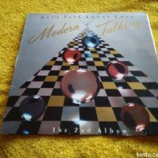 Discos de vinilo: 78-LP DISCO VINILO. LET'S TALK ABOUT LOVE. MODERN TALKING. Lote 213577260