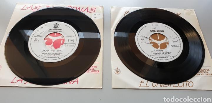 Discos de vinilo: LOTE 2 SINGLES PROGRAMA UN, DOS, TRES, RESPONDA OTRA VEZ RAUL SENDER Y TACAÑONAS HERMANAS HURTADO - Foto 3 - 213579311