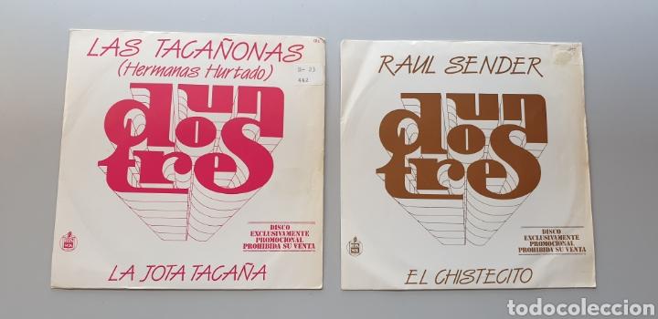LOTE 2 SINGLES PROGRAMA UN, DOS, TRES, RESPONDA OTRA VEZ RAUL SENDER Y TACAÑONAS HERMANAS HURTADO (Música - Discos - Singles Vinilo - Bandas Sonoras y Actores)