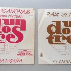 Discos de vinilo: LOTE 2 SINGLES PROGRAMA UN, DOS, TRES, RESPONDA OTRA VEZ RAUL SENDER Y TACAÑONAS HERMANAS HURTADO. Lote 213579311