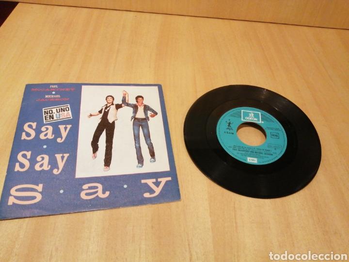 MICHAEL JACKSON. PAUL MCCARTNEY. SAY SAY SAY.. (Música - Discos de Vinilo - Singles - Pop - Rock Extranjero de los 80)