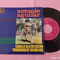 """Discos de vinilo: 7"""" SINGLE - ANTONIO AGUILAR – CUATRO COPAS +3 SPAIN PRESS EP MUSART MZ-32 (EX-/EX-). Lote 213608653"""