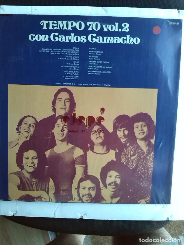 Discos de vinilo: TEMPO 70 VOL 2 CON CARLOS CAMACHO 1974 - Foto 2 - 213613357