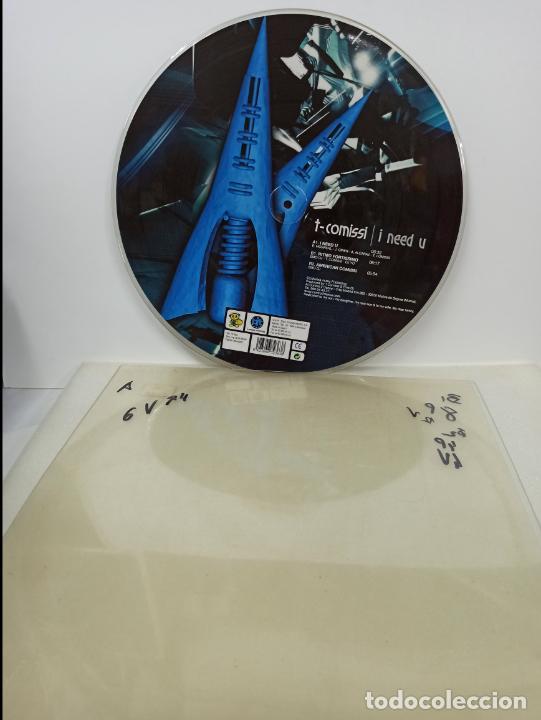 Discos de vinilo: MAXI SINGLE PICTURE DISC DISCO VINILO T COMISSI I NEED U - Foto 2 - 213644077