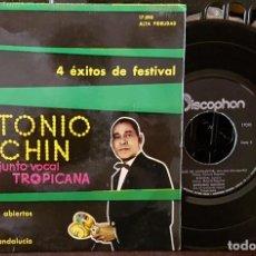 Discos de vinilo: ANTONIO MACHIN Y EL CONJUNTO VOCAL TROPICANA - CON LOS BRAZOS ABIERTOS. Lote 213644705