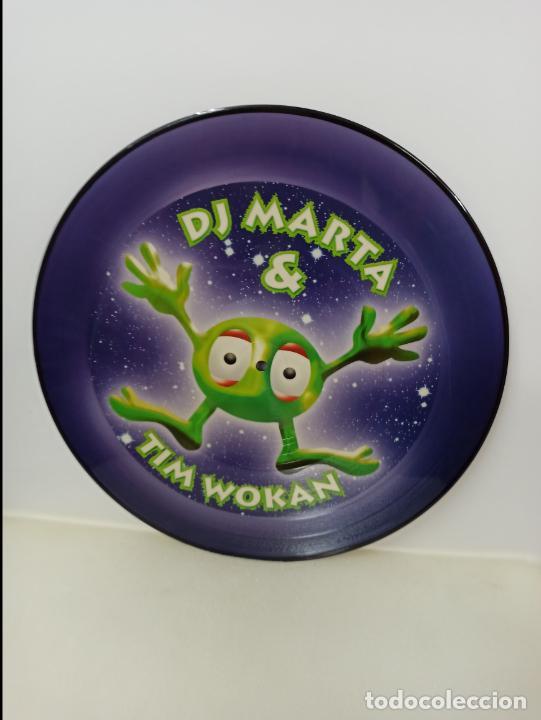 MAXI SINGLE PICTURE DISC DISCO VINILO DJ MARTA AND TIM WOKAN THINK ABOUT THE WAY (Música - Discos de Vinilo - Maxi Singles - Techno, Trance y House)