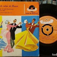 Discos de vinilo: UN RAMILLETE DE VALSES DE STRAUSS - EL BELLO DANUBIO AZUL. Lote 213646758